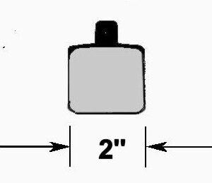 CNC 1523 2'' BRAKE PAD SET