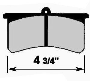 CNC 1525 4-3/4'' BRAKE PAD SET