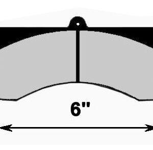 CNC 1526 6'' BRAKE PAD SET