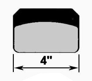 CNC 1531 4'' BRAKE PAD SET
