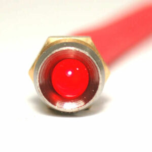 K4 17-100 LED CHROME BEZEL RED 12V