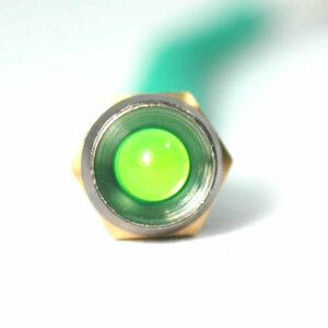 K4 17-101 LED CHROME BEZEL GREEN 12V