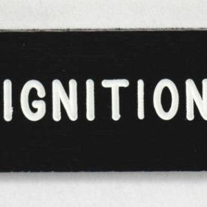 K4 60-120 DASH  BADGE IGNITION